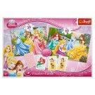 Trefl Disney Princess 3in1 Puzzles + Cards