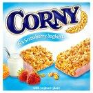 Corny Cereální tyčinka jahodová v jogurtové polevě 6 x 25g