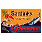 Giana Sardinky ve slaném nálevu a rostlinném oleji s chilli 125g