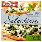 Don Peppe Selection Pizza sýr feta & špenát pečená na kameni 405g