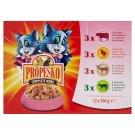 Propesko Kompletní krmivo pro dospělé kočky výběr mas 12 x 100g