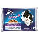 Purina Felix Fantastic Junior s kuřetem a lososem v želé 4 x 100g