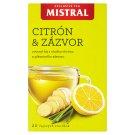 Mistral Exclusive Aromatizovaný ovocný čaj s příchutí Citron a zázvor 20 x 2g