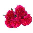 Kytice chryzantém s zimostrázem tmavě růžová 9 květů