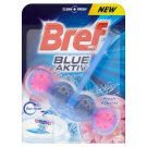 Bref Blue Aktiv Fresh Flower tuhý WC blok 50g