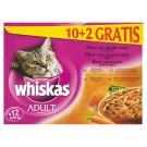 Whiskas Adult Menu ze 4 druhů masa ve šťávě kompletní krmivo pro dospělé kočky 12 x 100g