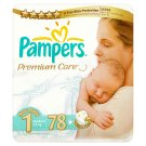Pampers Premium Care Pleny 1 Newborn 78 ks
